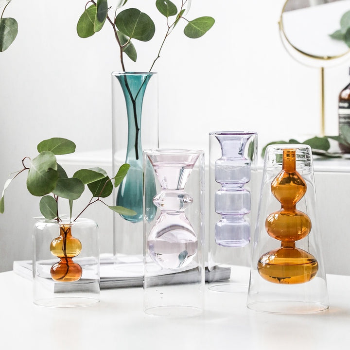 Inside Out Double Walled Glass Vase - Staunton and Henry