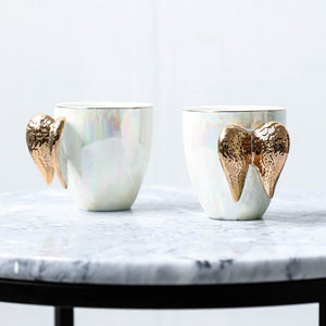 Pearlescent Angel Wings Coffee Mug - Staunton and Henry