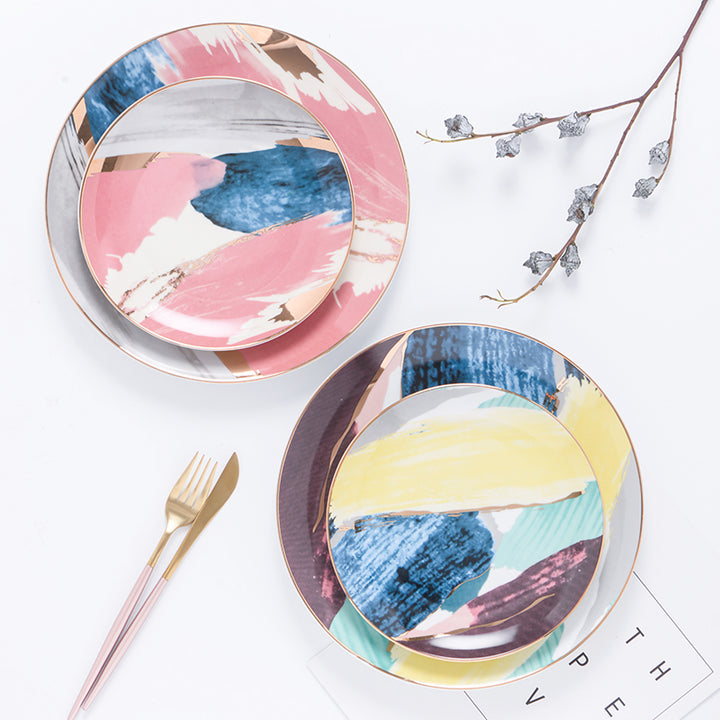 Modern Abstract Pastel Plates - Staunton and Henry