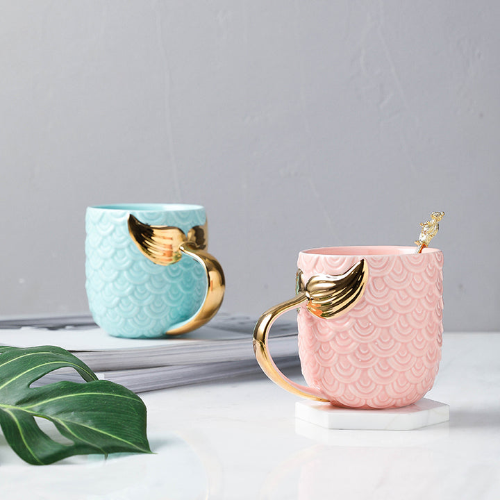 Pastel and Gold Mermaid Coffee Mug - Staunton and Henry