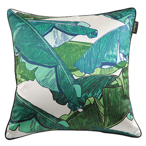 Green Plantation Leaf Throw Cushion - Staunton and Henry