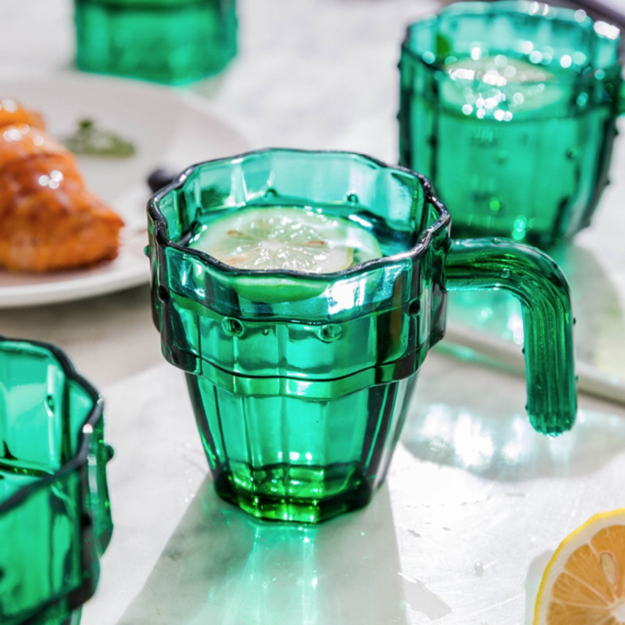 Green Cactus Glasses - Set of 6 - Staunton and Henry