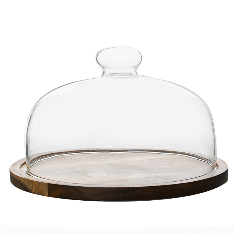 Wooden Cake Plate With Dome - Staunton and Henry