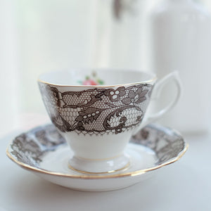 Black Lace Tea Cup and Saucer - Staunton and Henry