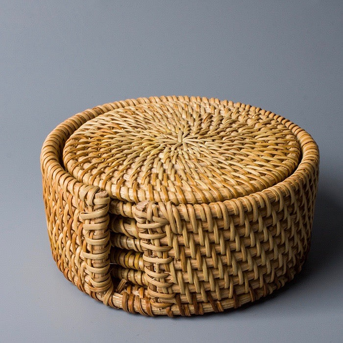 Rattan Coasters - Set of 6 - Staunton and Henry