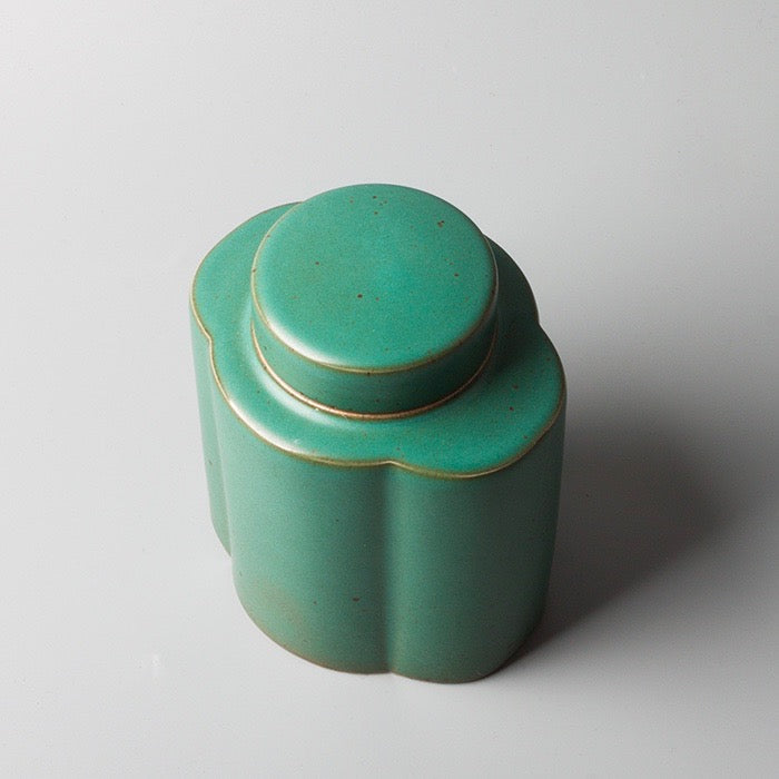 Jade Green Oriental Tea Canister - Staunton and Henry