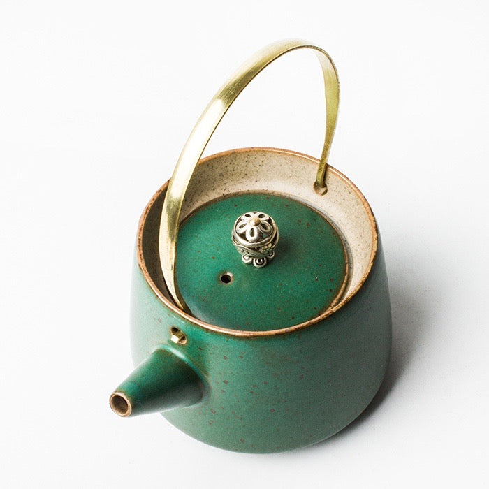 Hisui Jade Green Oriental Tea Pot - Staunton and Henry