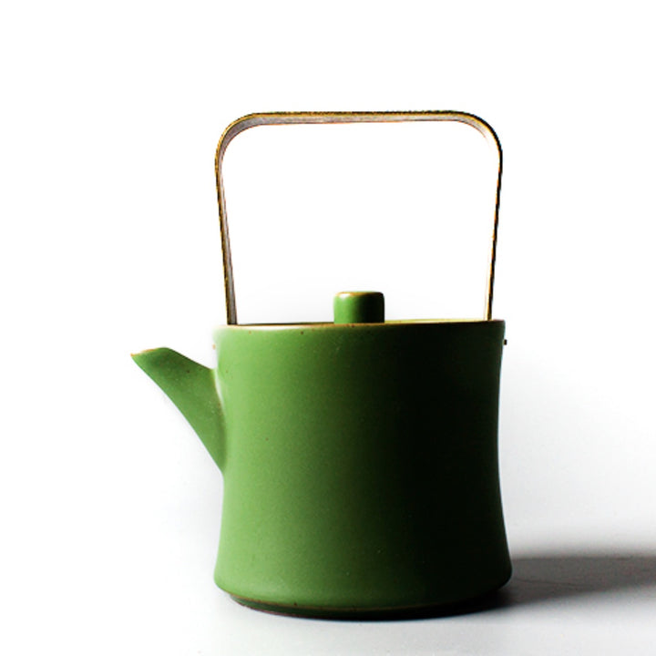 Mirai Modern Green Oriental Tea Pot - Staunton and Henry
