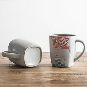 Kansai Japnese Koi Fish Coffee Mug - Staunton and Henry