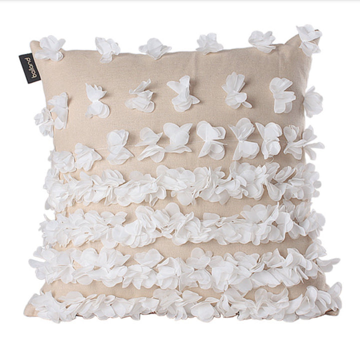 Frilly Cream and White Throw Cushion Cover - Staunton and Henry