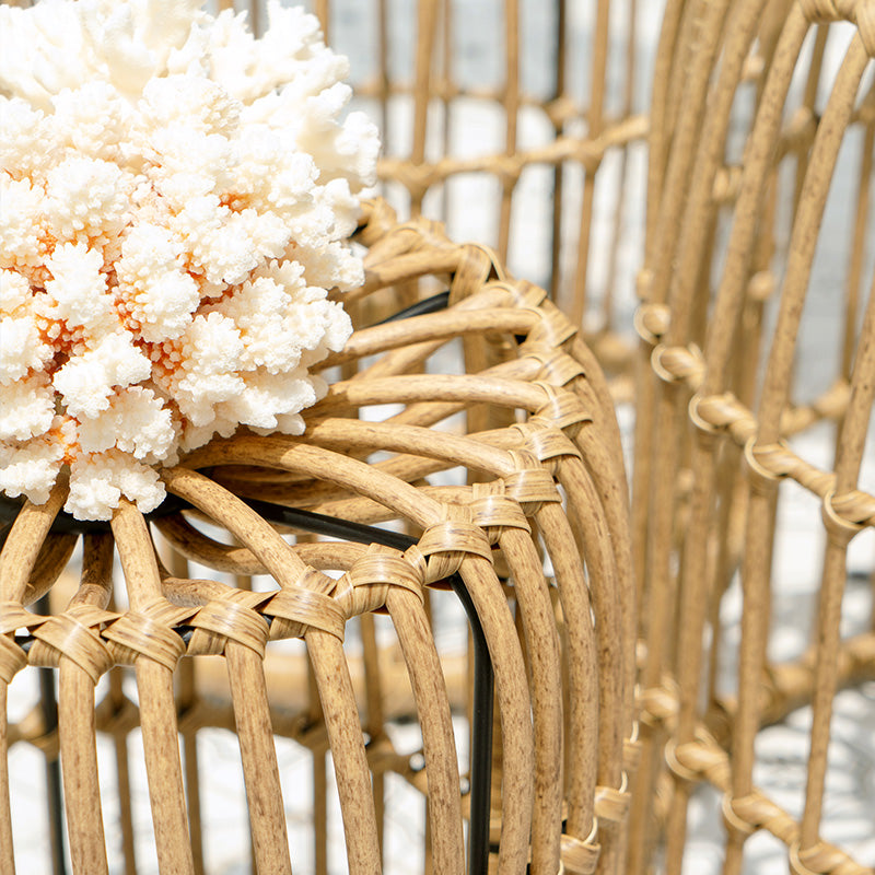 Flores Rattan Stool - Staunton and Henry