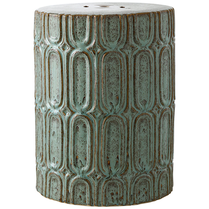 Oriental Jade Ceramic Garden Stool - Staunton and Henry