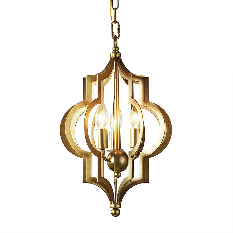 Moroccan Style Brass Pendant Light - Staunton and Henry