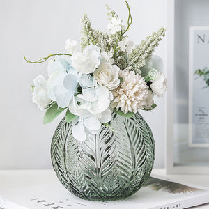 Nordic Leaf Glass Vase - Staunton and Henry