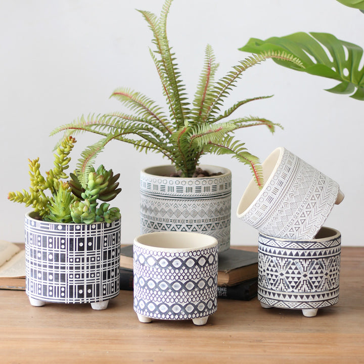 Modern Monochrome Plant Pots - Staunton and Henry
