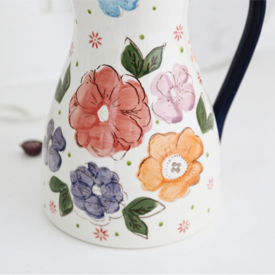 Hilda Hand Painted Ceramic Water Jug - Staunton and Henry