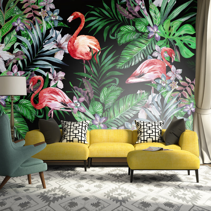 Flamingos in the Jungle Wall Mural - Staunton and Henry
