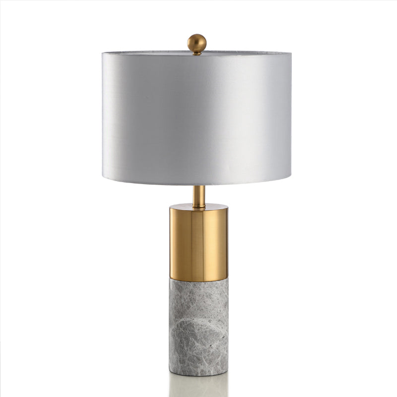 Grey Marble Table Lamp With Gold Trim - Staunton and Henry