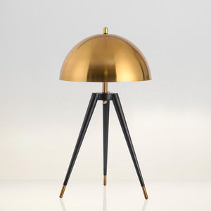 Modern Black and Gold Tripod Table Lamp