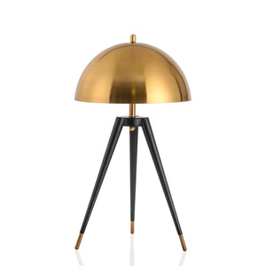 Modern Black and Gold Tripod Table Lamp - Staunton and Henry