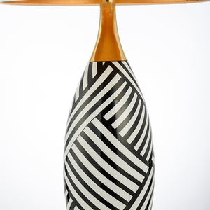 Elegant Black and White Ceramic Table Lamp