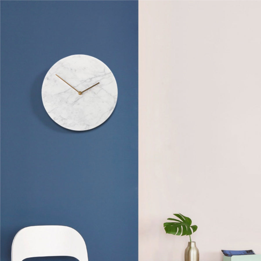Minimalist Marble Wall Clock - Staunton and Henry