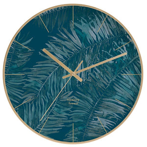 Modern Blue and Gold Wall Clock
