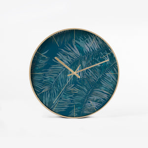 Modern Blue and Gold Wall Clock - Staunton and Henry