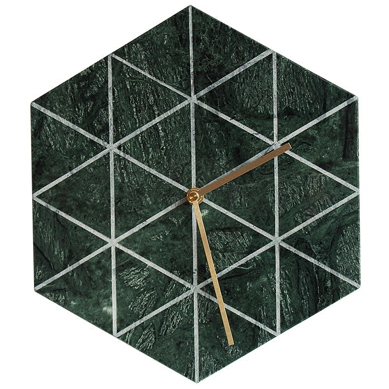 Hexagon Marble Wall Clock - Staunton and Henry