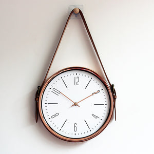 Copper Hanging Wall Clock
