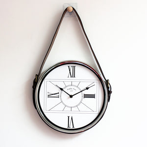 Silver Hanging Wall Clock - Staunton and Henry