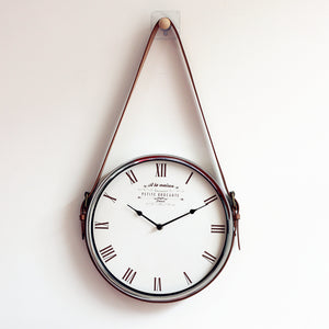 Silver Hanging Wall Clock