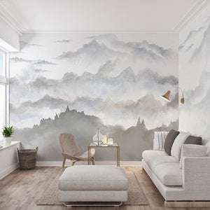 buy wall mural wallpaper at 25% off retail \u2013 staunton and henrymisty mountains wall mural