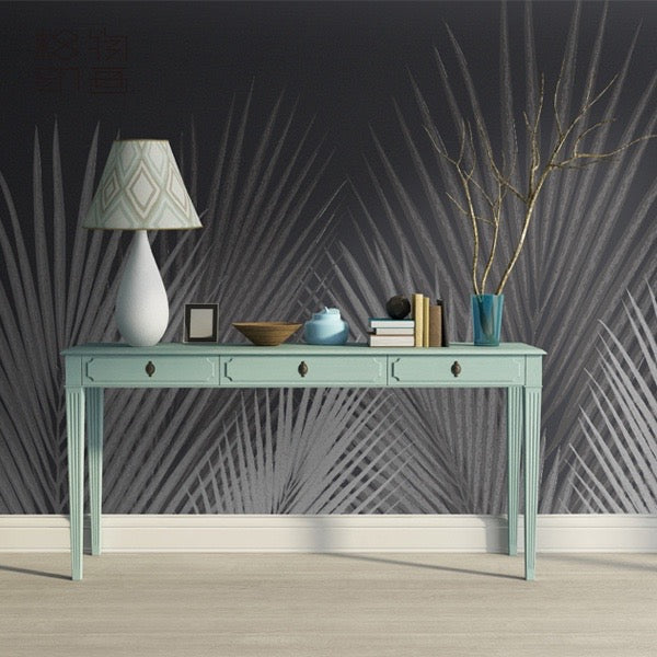 Grey Palm Wallpaper - Staunton and Henry