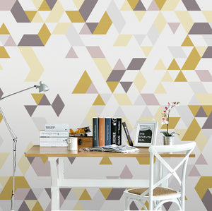 Nordic Yellow and Grey Wallpaper
