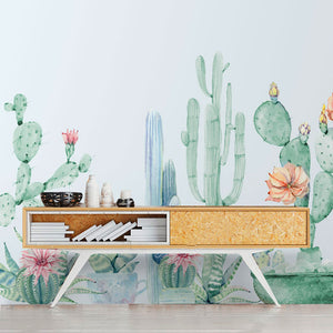 Collection of Cactus Wall Mural