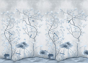 Blue Oriental Wall Mural - Staunton and Henry