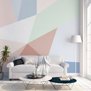 Nordic Pastel Geometric Wallpaper