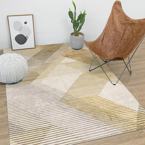 Nordic Yellow and Grey Rug