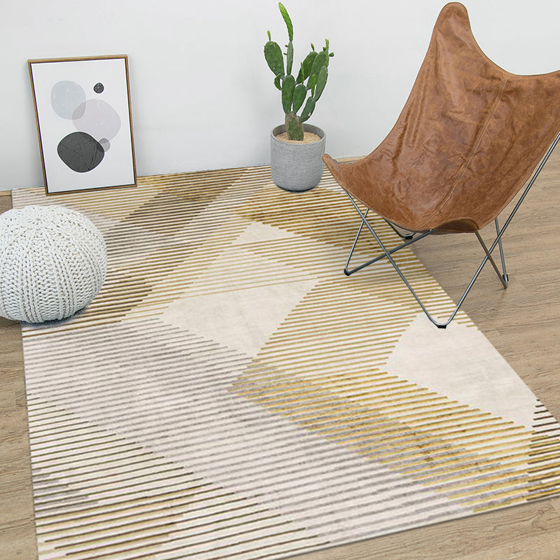 Nordic Yellow and Grey Rug - Staunton and Henry