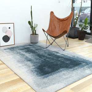 Abstract Blue and Grey Rug