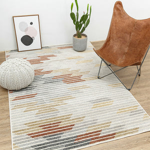 Modern Tribal Orange and Yellow Rug - Staunton and Henry