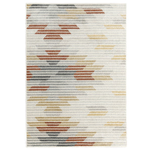 Modern Tribal Orange and Yellow Rug