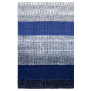 Blue and Grey Chunky Weave Rug
