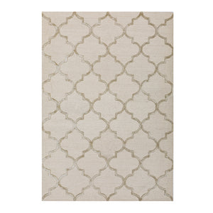 Caspar Cream Moroccan Pattern Wool Rug - Staunton and Henry