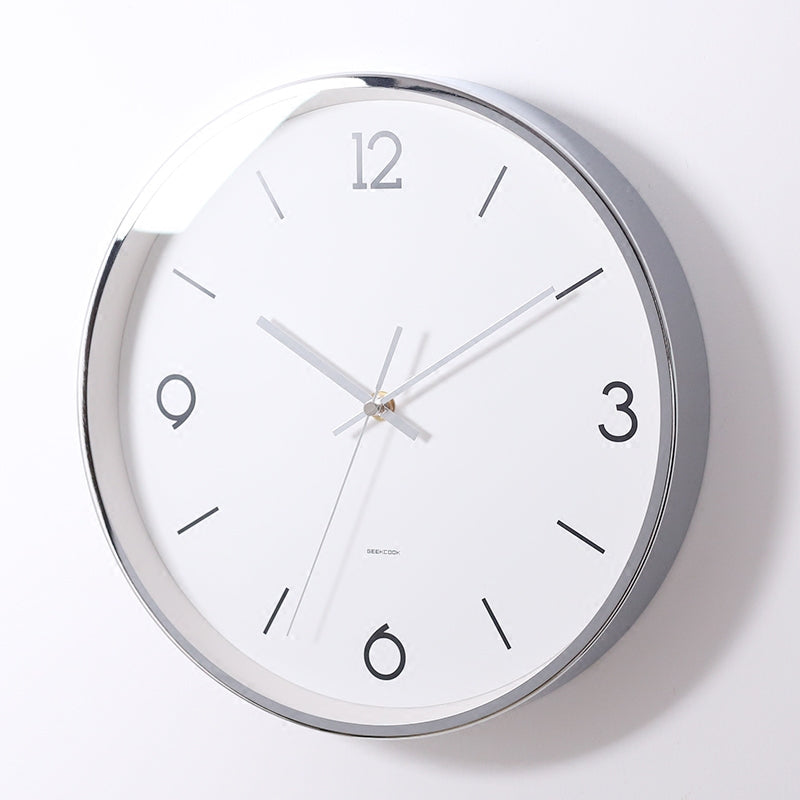 Minimalist Nordic Silver Wall Clock - Staunton and Henry
