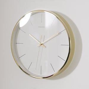 Minimalist Nordic Gold Wall Clock