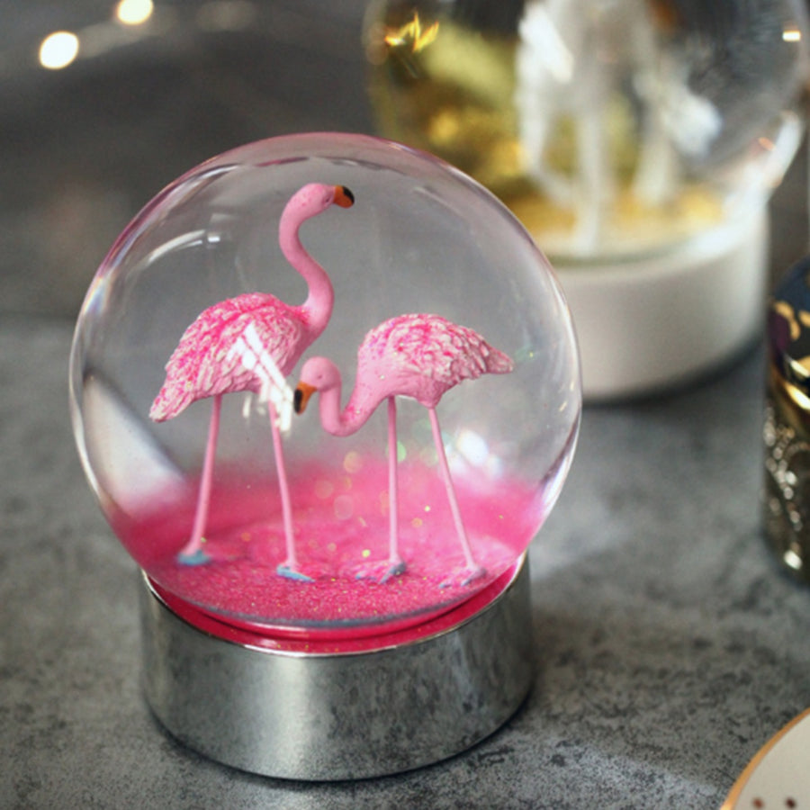 Flamingo Snow Globe - Staunton and Henry