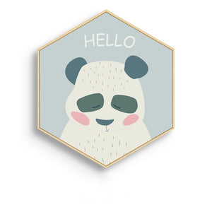 Hexagonal Framed Kids Room Prints - Staunton and Henry