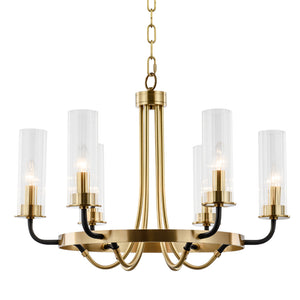 Elegant Modern Gold Chandelier - Staunton and Henry